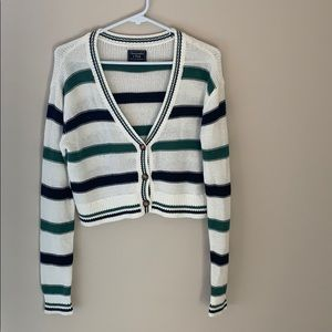 Abercrombie Striped cropped cardigan